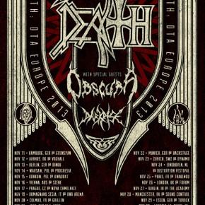 DEATH (+Obscura og Darkrise) til Voxhall