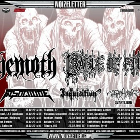 Behemoth og Cradle Of Filth til Danmark
