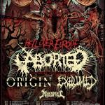 Aborted + Origin + Exhumed til Danmark