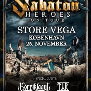 ***Afsluttet***Vind billetter til Sabaton i Vega