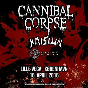 Cannibal Corpse m.fl. til Lille Vega