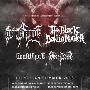 The Black Dahlia Murder og Dying Fetus til Beta