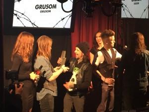 """Grusom vinder """"årets rockudgivelse"""". HV Awards 2016. Foto: Weiss"""