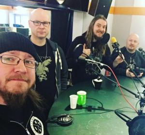 Fra venstre: Teitur, Jan Roger, Weiss og Kári i Góðan Morgun Føroyar!