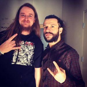 Weiss og Tommaso Riccardi fra Fleshgod Apocalypse på RMF 2017