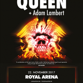 Queen + Adam Lambert til Royal Arena