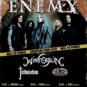 Arch Enemy, Wintersun, Tribulation & Jinjer på tour i 2018