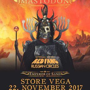 Mastodon, Red Fang & Russian Circles til Danmark