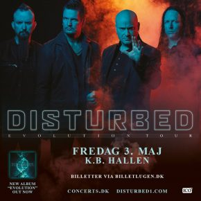 Disturbed til KB Hallen