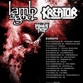 Kreator, Lamb Of God & Power Trip til København
